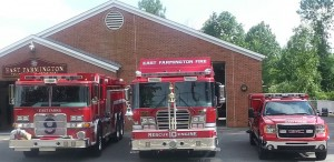 "East Farms Apparatus with the ""Best Overall"" Trophy."